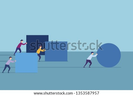 business man with stuff and someone pulls ahead Stock photo ©