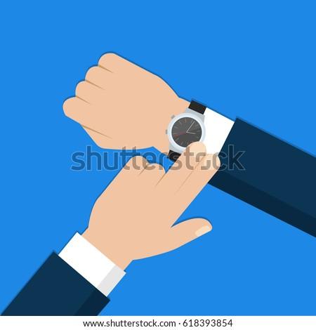 business man with wristwatch