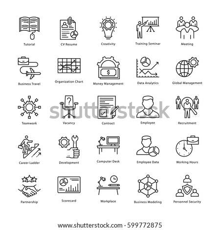 Business Management and Growth Vector Line Icons 15 #599772875