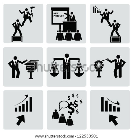 Business management and Human resource,organization,icon set,Vector