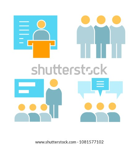 business management and office icons