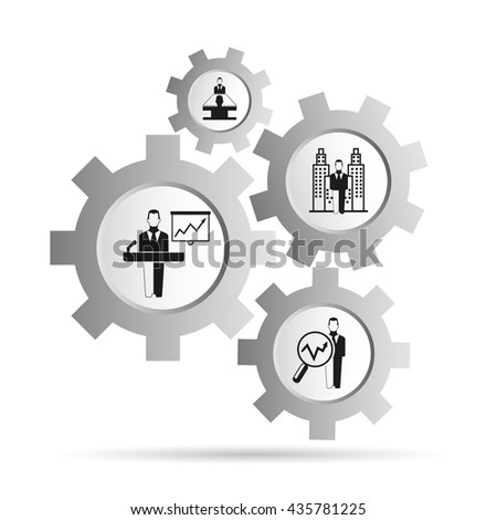 business management concept in gear