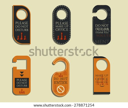 Business Management Consulting Door Knob Or Hanger Sign Set  Do Not Disturb  Design. With
