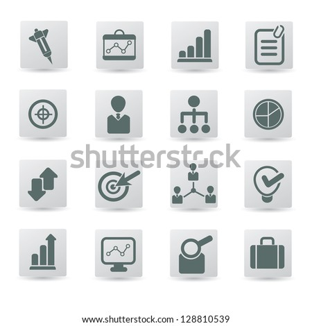Business,management,icon set,vector
