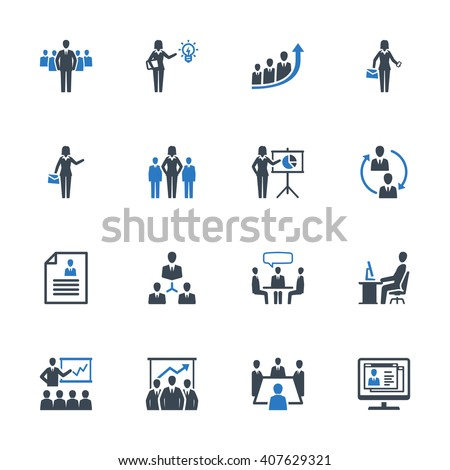 business management icons set 1 ...