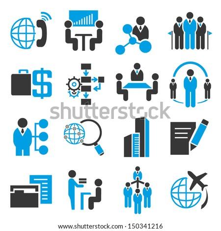 business management icons set, company icons set