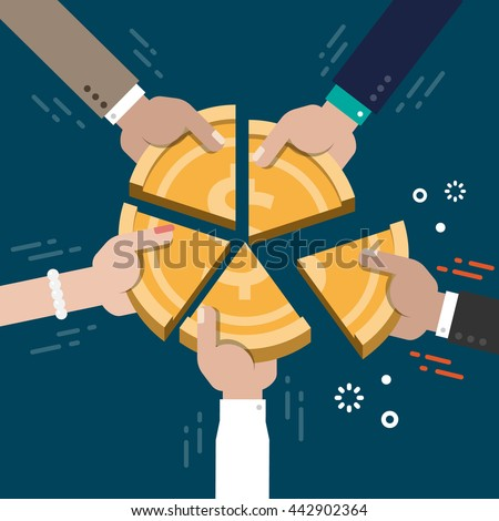 Business Market Share Competition Concept Illustration Vector