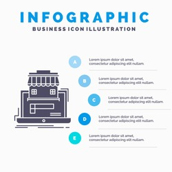 business, marketplace, organization, data, online market Infographics Template for Website and Presentation. GLyph Gray icon with Blue infographic style vector illustration.