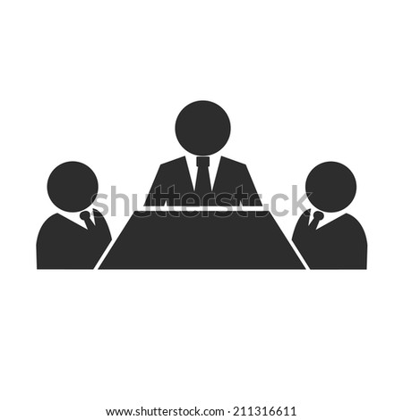 Business Meeting Black Icon