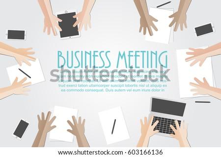 business meeting flat concept...