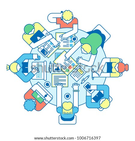 Business meeting illustration.