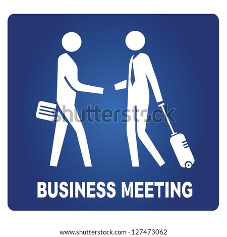 business meeting sign - stock vector
