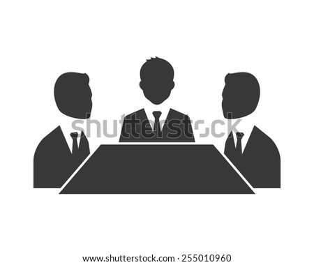 Business meeting symbol isolated on white background
