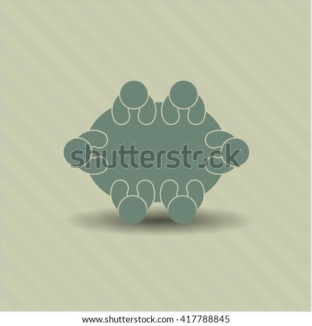 business meeting teamwork icon vector symbol flat eps