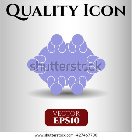 Business Meeting (Teamwork) vector icon