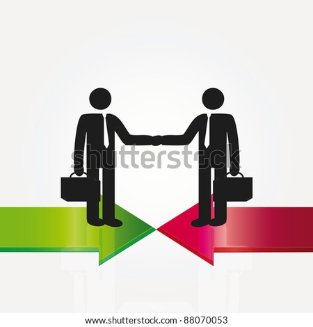Business meeting two important persons - abstract concept