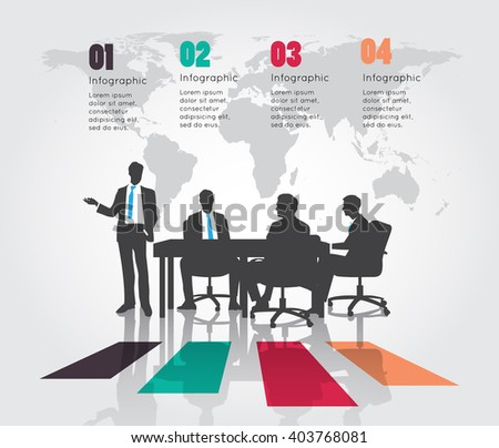 Business meeting with Modern infographic