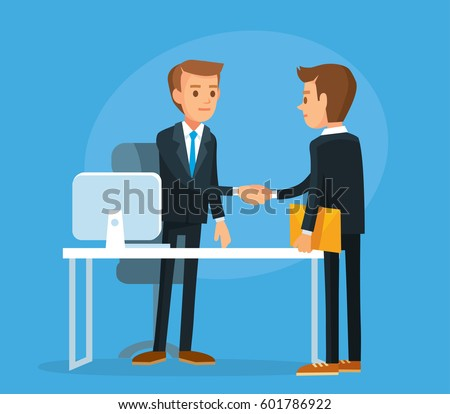 Business meeting with shaking hands