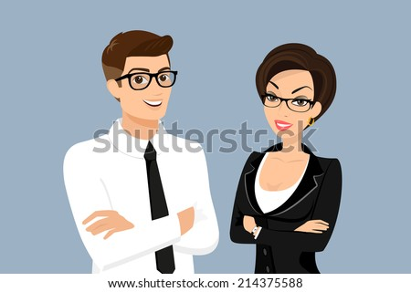 business men and woman vector