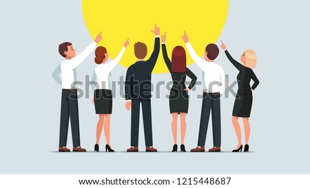 business men and women group