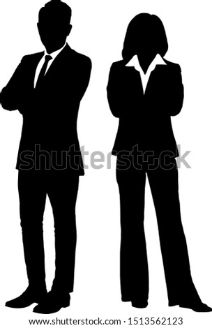 business men and women isolated