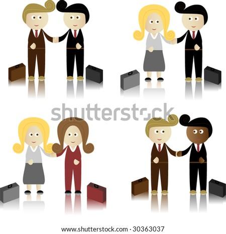 Business Men and Women shaking hands