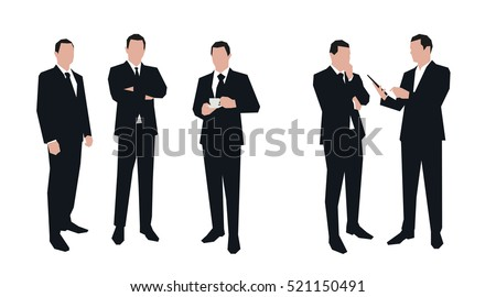 business men character set in