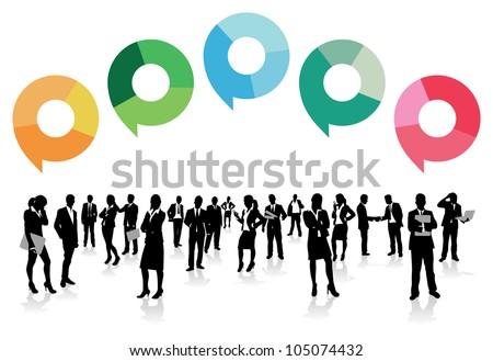 business men speech bubbles