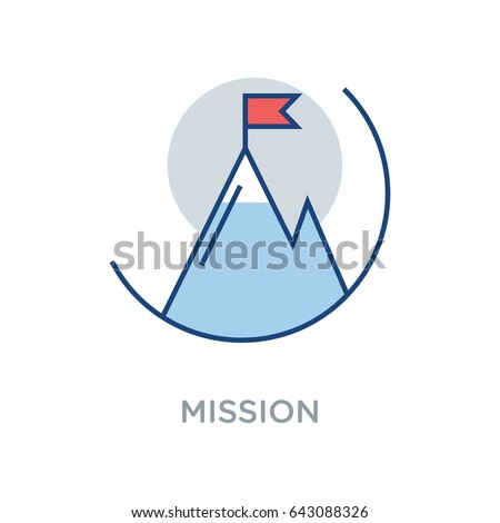Business Mission Vector Icon Flat Style