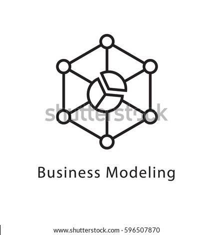business modeling vector line