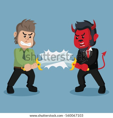 business monkey evil duel