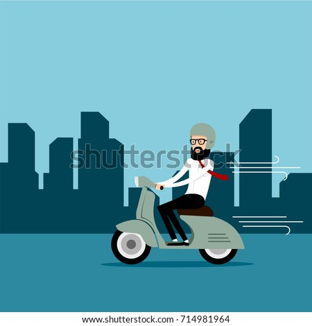 Business Motorcycle driver vector