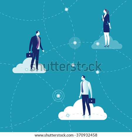 Business network. Business concept