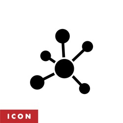 Business Network icon vector. Structure icon