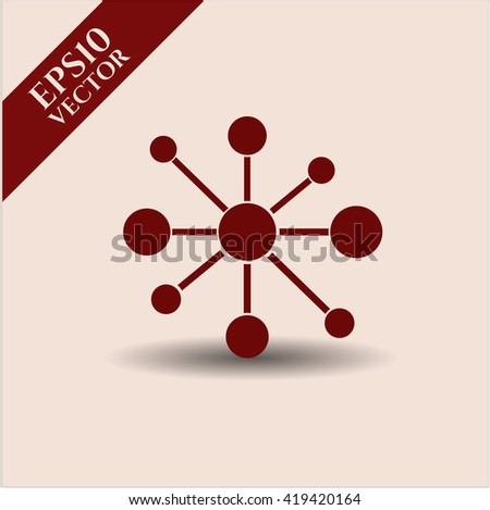 business network icon vector symbol flat eps jpg app