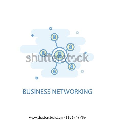 Business networking line trendy icon. Simple line, colored illustration. Business networking symbol flat design from Entrepreneurship set. Can be used for UI/UX