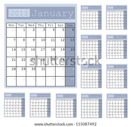 Business Notes Calendar 2013