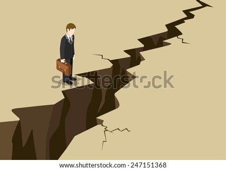 business obstacle concept flat