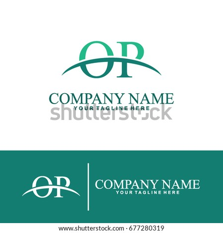 Business of O and P Initial Logo Design