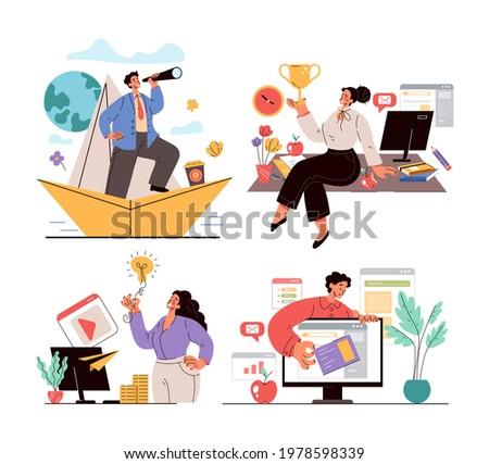 business office people team