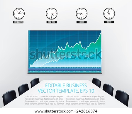 business office with empty
