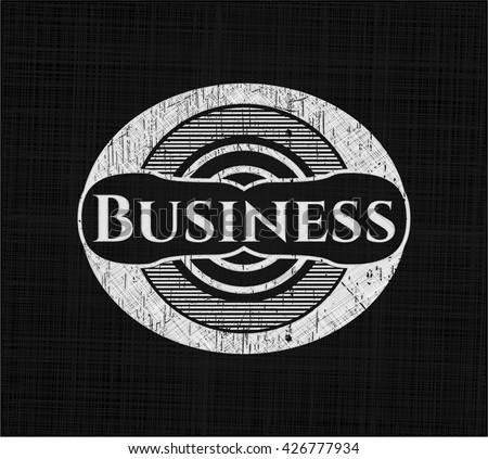 Business on blackboard