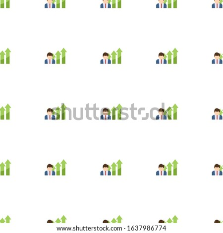 Business opportunity icon pattern seamless isolated on white background. Editable flat Business opportunity icon. Business opportunity icon pattern for web and mobile.