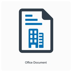 Business or office document icon and concept