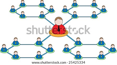 Business organization icon.Vector Business concepts - networking, organizational groups, or workgroups