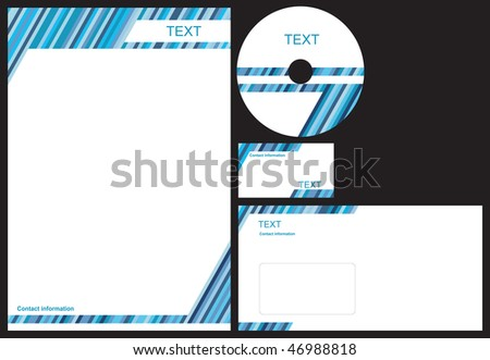 Simple letterhead vector design template download vetores e business package with business card letterhead envelope and cd reheart Choice Image