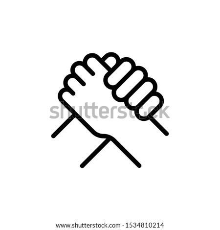 Business Partnership line icon - vector  Stock foto ©