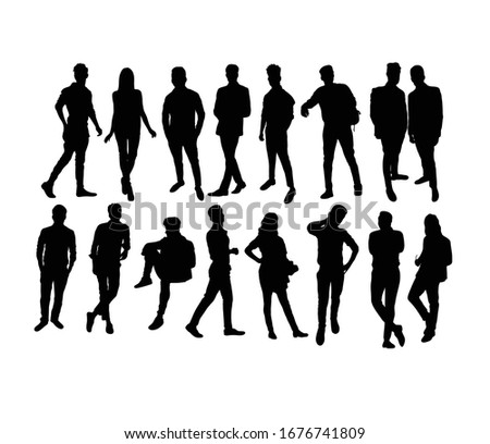 Business People Activity Silhouettes, art vector design Stock photo ©