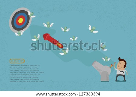 Business people aiming for a high target , eps10 vector format