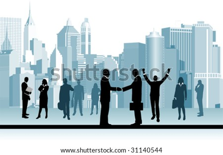 Business People.  All elements and textures are individual objects. Vector illustration scale to any size.